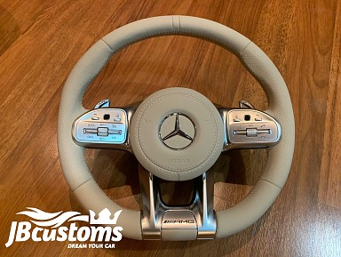 Steering wheel Mercedes-AMG (2019-2020) Beige