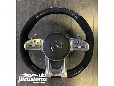 Volante Mercedes AMG (2019-2020) Fibra de Carbono Forjado