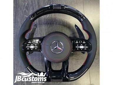 Volante Mercedes AMG (2019-2020) Fibra de Carbono Pantalla LED
