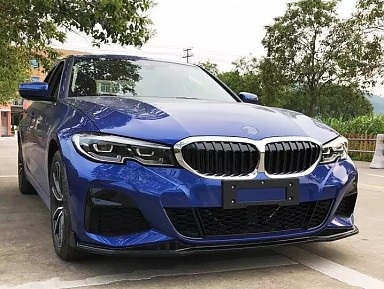 Front lip (Gloss Black) for BMW 3 Series (G20) (2018+)