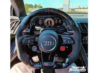 Volante Audi R8 Fibra de Carbono Forjado Mate