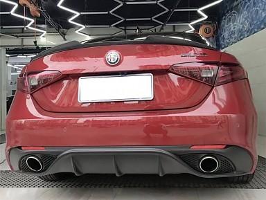 Difusor/Colas Escape para Alfa Romeo Giulia (Paragolpes Standar)