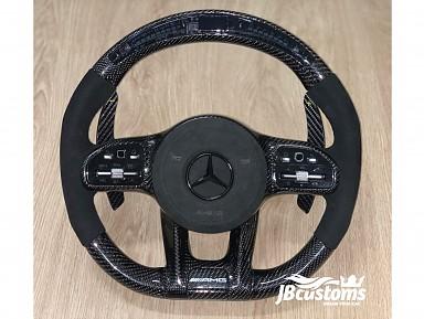 Volante Mercedes AMG (2019-2020) Full Fibra de Carbono Pantalla LED