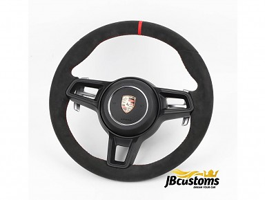 Porsche GT3 RS Alcantara Leather Steering Wheel (2011-2021)
