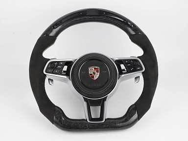 Porsche Forged Carbon Fiber / Alcantara / LED Steering Wheel (2011-2021)