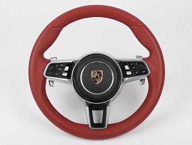 Volante Porsche Cuero Rojo para Porsche (2011-2020)