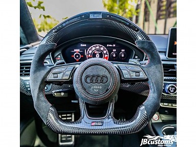 Audi RS Carbon Fiber Steering Wheel/LED Screen for Audi (2013-2020)