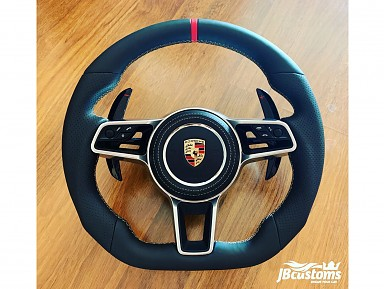 Porsche Black Leather Steering Wheel (2011-2020)