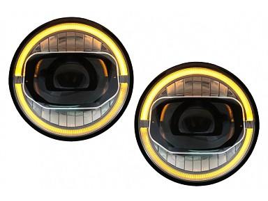 LED Headlights (Angel Eyes) Jeep Wrangler JL (2018+)