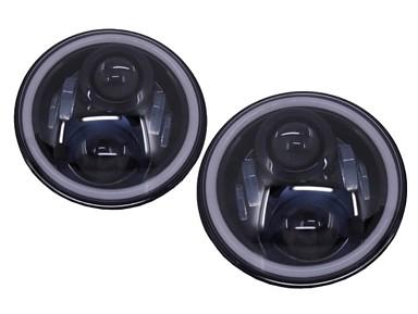 LED Headlights (Angel Eyes) Jeep Wrangler JK (1997-2014)