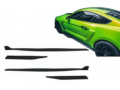 Extensiones Faldones Laterales Ford Mustang GT 500 (2015-2020)