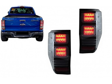 LED Smoked Tail Lights Ford Ranger T6 (2012-2018)