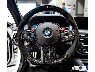 BMW G-Series Carbon Fiber Forged Steering Wheel / LED Display (2017-2021)