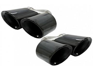 Colas de Escape Porsche Cayenne S 9Y0 (2018+) Negro Brillo