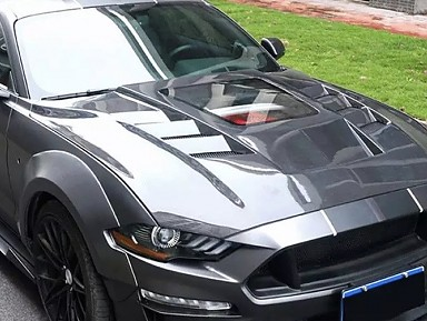 Capó Fibra de Carbono Ford Mustang Coupe / Cabrio VI Facelift (2018-2021)