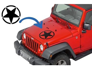 Pegatina Black Star Jeep Wrangler
