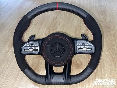 Volante Mercedes-AMG (2019-2020) Fibra de Carbono Mate / Alcantara